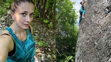 Anita Sokołowska wspina się po pionowej ścianie