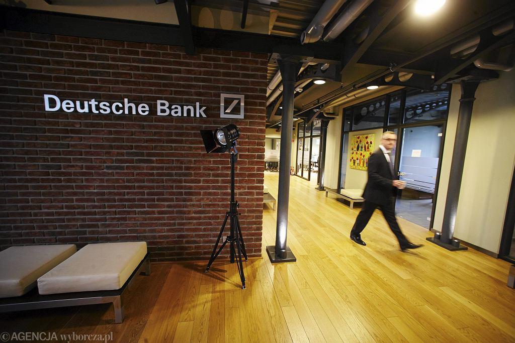 Deutsche Bank przy Sienkiewicza w Lodzi