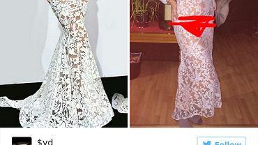 W internecie można kupić wszystko - również potworną sukienkę.