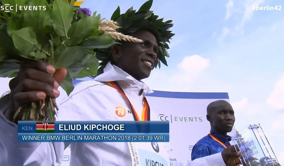 Eliud Kipchoge rekordzistą świata w maratonie
