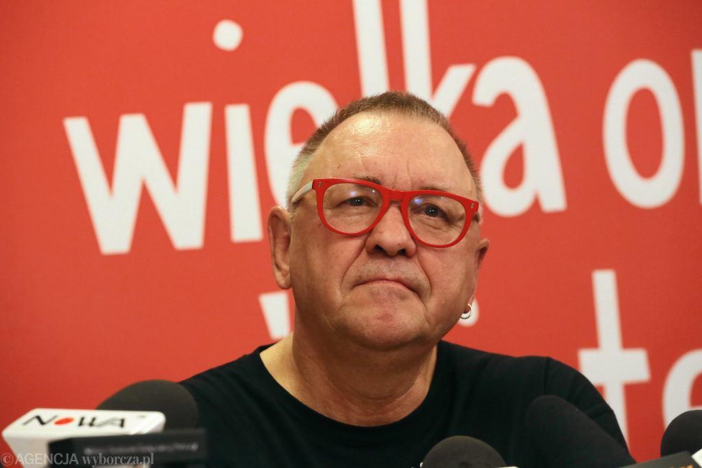 Jurek Owsiak - konferencja WOŚP po 26. Finale, Warszawa, 15 stycznia 2018
