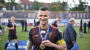 Adam Frączczak po pożegnalnym meczu w barwach Pogoni Szczecin