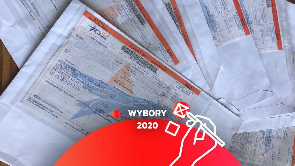 Ambasada RP w Maroku pokazuje odesłane pakiety wyborcze