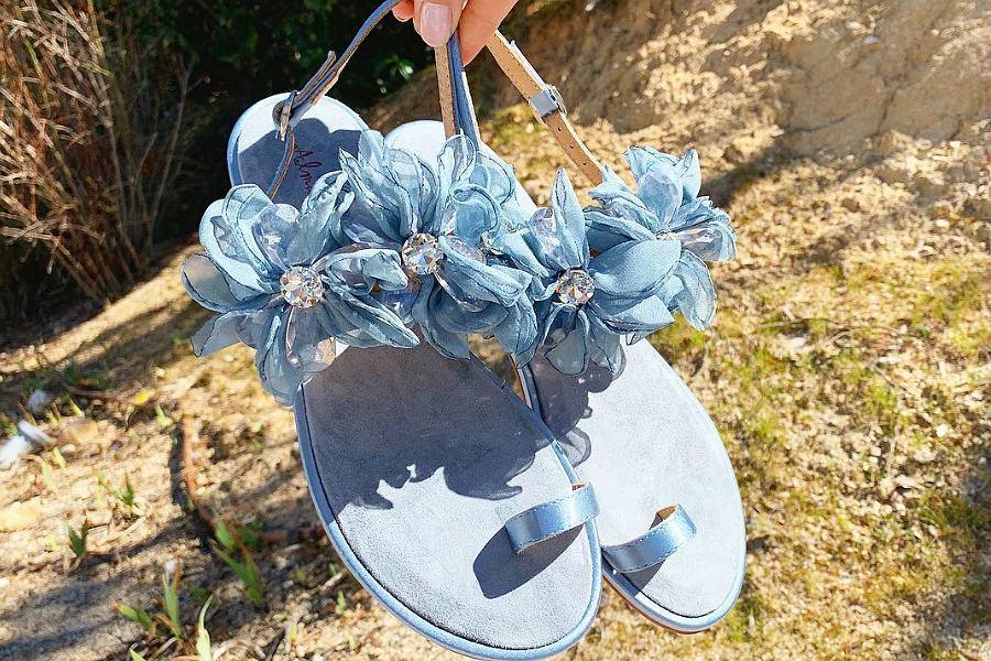 sandały niebieskie