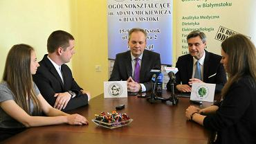 Podpisanie porozumienia o współpracy między Uniwersytetem Medycznym w Białymstoku i I Liceum Ogólnokształcącym