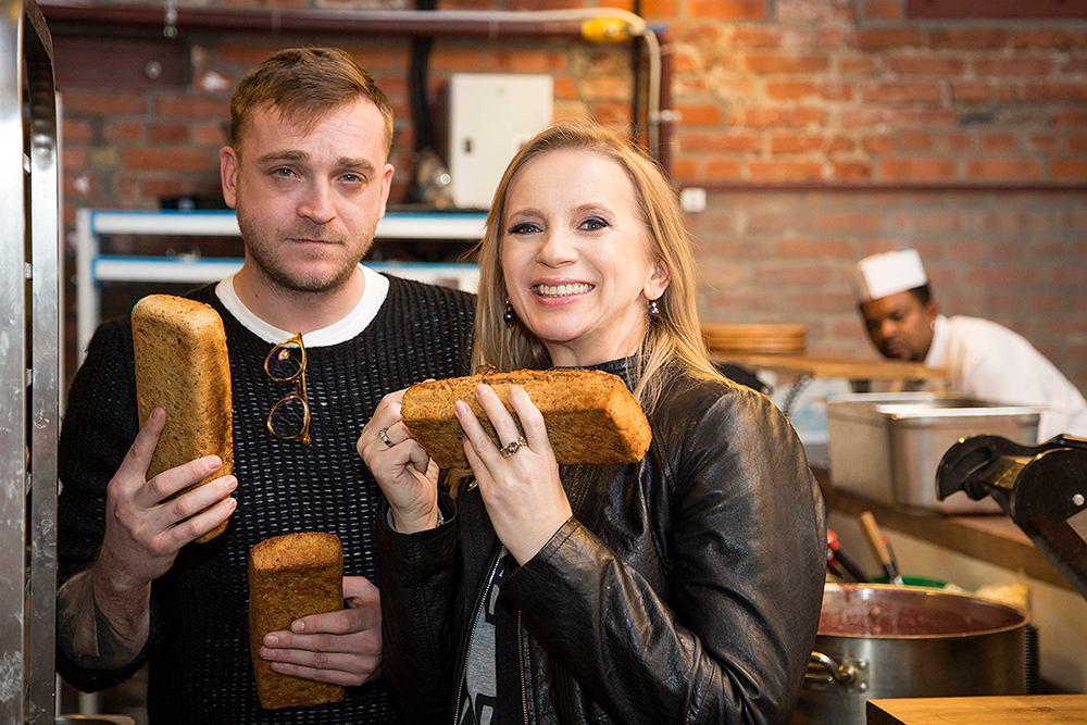 Marzena Rogalska i Mateusz Gessler w restauracji