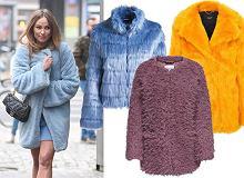 Ożywcie swoje jesienne stylizacje sztucznym, kolorowym futrem. Gwiazdy już je noszą