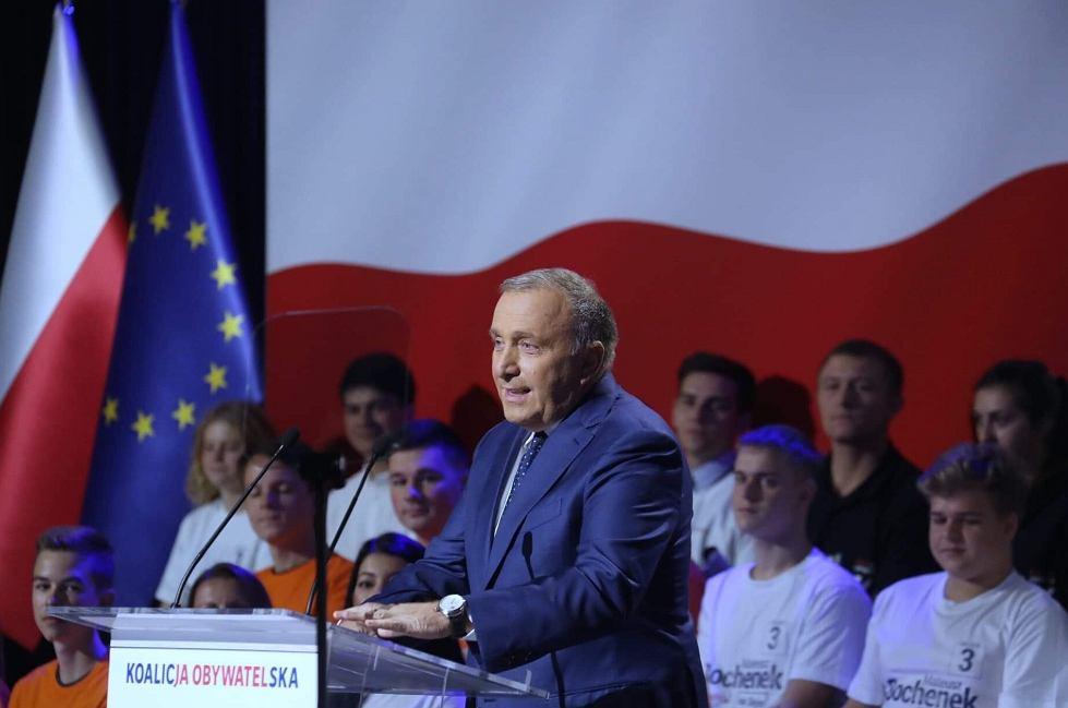 Grzegorz Schetyna podczas konwencji w Sosnowcu