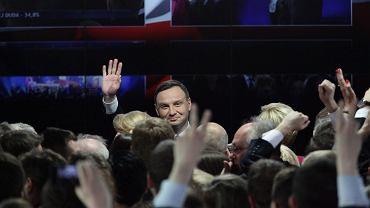 Andrzej Duda na wieczorze wyborczym