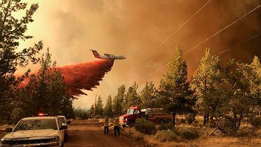 Usa, Oregon. Walka z pożarem