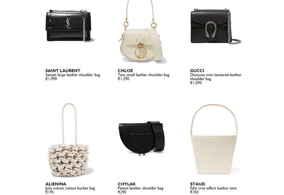 Torebki Zofii Chylak na platformie Net-a-Porter obok takich marek jak Gucci, Saint Laurent i Chloe