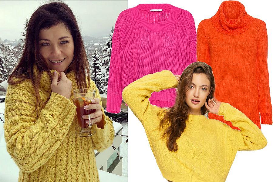 Kolorowe swetry oversize