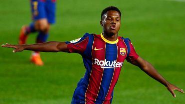 Ansu Fati zdobył dla Barcelony dwa gole w debiucie Ronalda Koemana w roli trenera