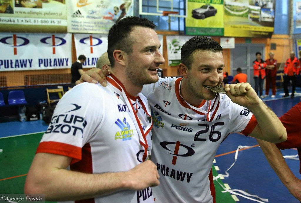 W Azotach lubią brąz. Brązowi medaliści mistrzostw świata i Polski - Piotr Masłowski i Przemysław Krajewski (z prawej)