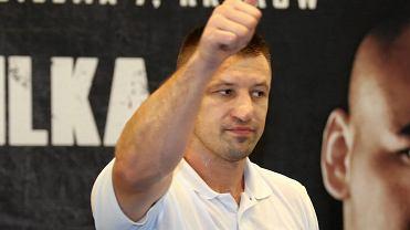 Tomasz Adamek podczas pokazowego treningu przed walką z Arturem Szpilką
