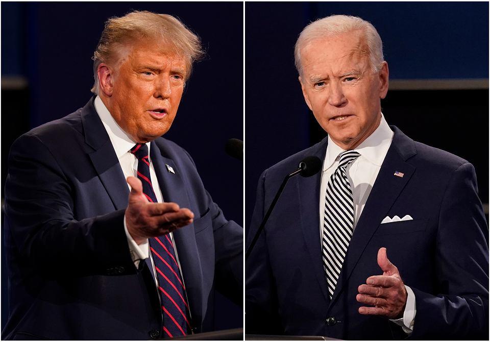 Kandydaci na urząd prezydenta USA: urzędujący Donald Trump i były wiceprezydent Joe Biden