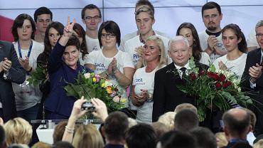 Wybory parlamentarne 2015. Wieczor Wyborczy w PiS