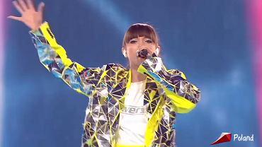 Viki Gabor podczas finałowego występu na Eurowizji Junior