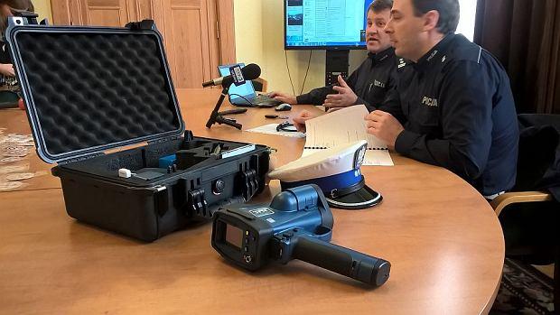 Prezentacja nowego, laserowego miernika prędkości