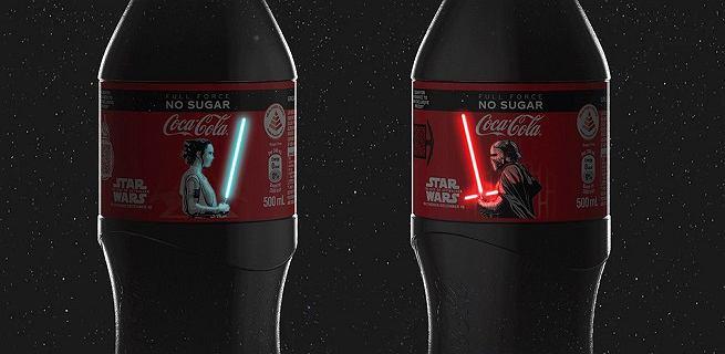 Coca-cola wyprodukowała specjalne butelki z mieczami świetlnymi