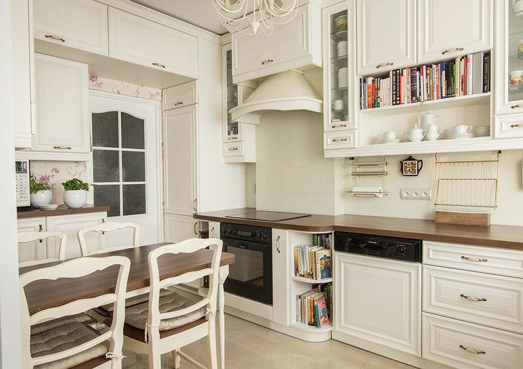 Kuchnia biała w stylu rustykalnym