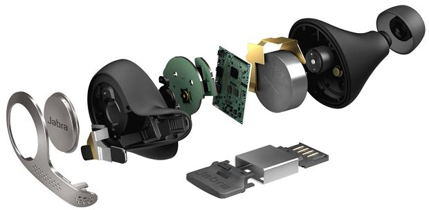 Anatomia słuchawek Evolve 65t Titanium