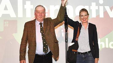 Trzecia siła w parlamencie. Alexander Gauland i Alice Weidel, liderzy AfD, którzy poprowadzili partię do sukcesu w ubiegłorocznych wyborach: prawie 13 proc. głosów i 94 mandaty w Bundestagu