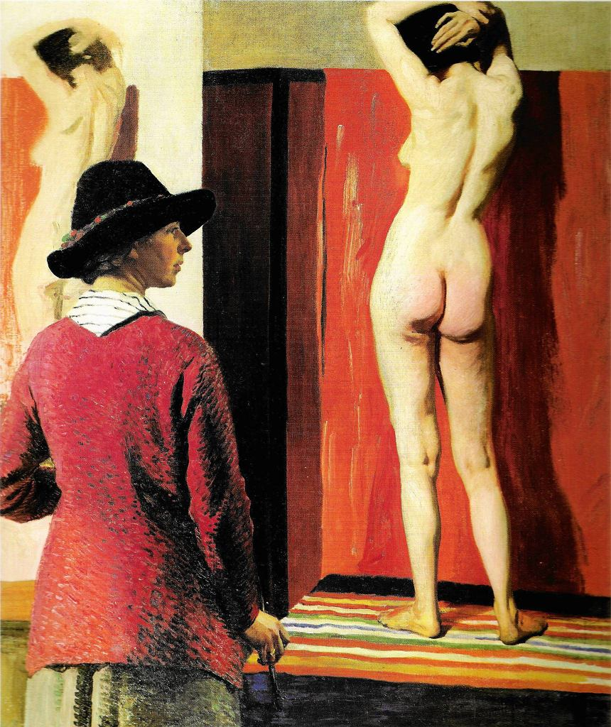 / Self portrait and Nude 1913 Laura Knight (1877-1970) 1913 National Portrait Gallery (London)