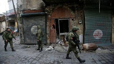 Rosyjscy żołnierze w Aleppo