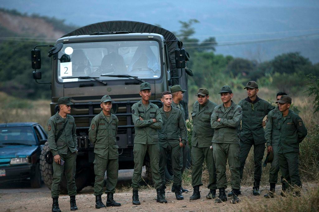 Wenezuelscy żołnierze. Zdjęcie ilustracyjne