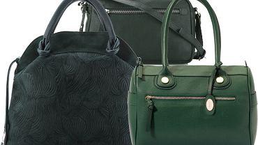 HIT: torebki w kolorze butelkowej zieleni
