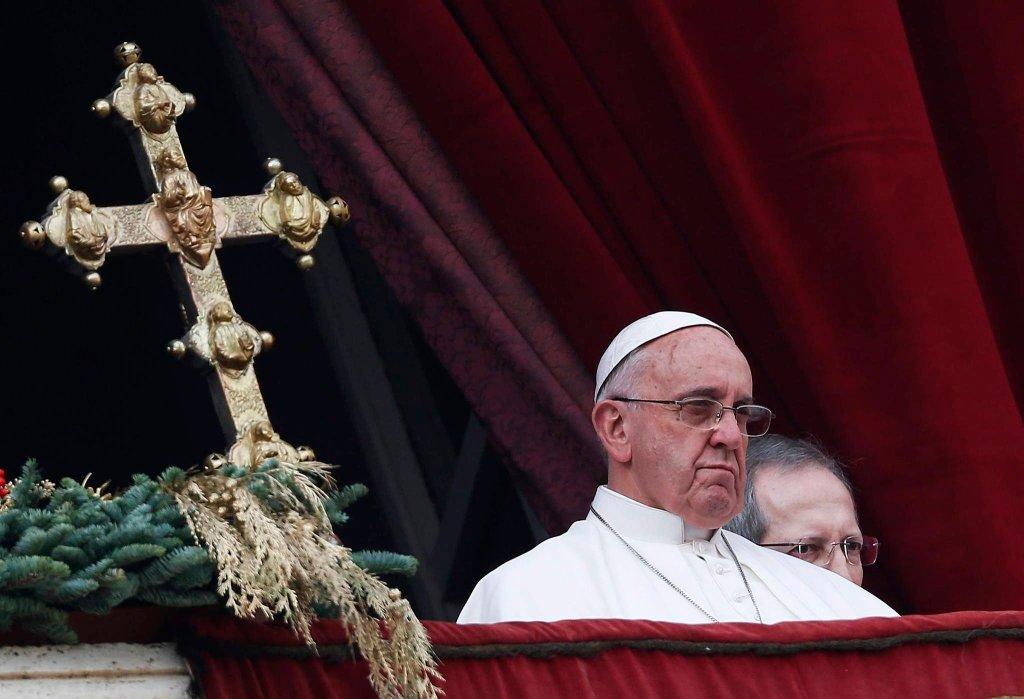 Papież Franciszek podczas bożonarodzeniowego orędzia