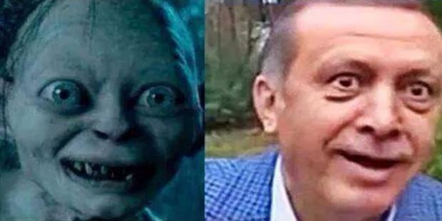 Mem z Erdoganem i Gollumem