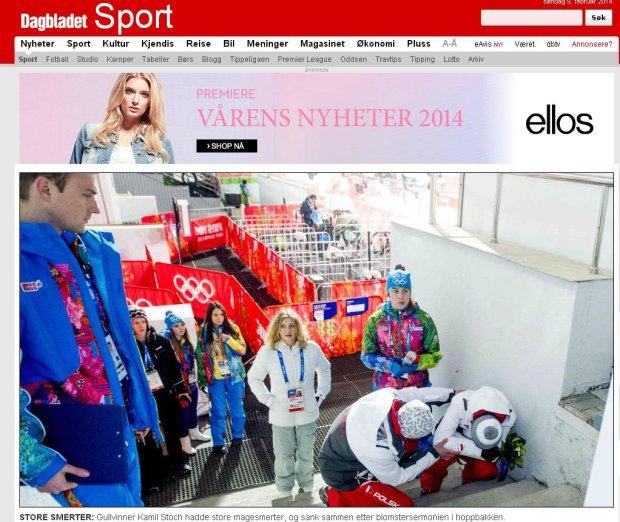"""Soczi 2014. """"Dagbladet"""": Stoch upadł po ceremonii wręczenia kwiatów. """"Źle się poczułem. Za dużo stresu"""""""