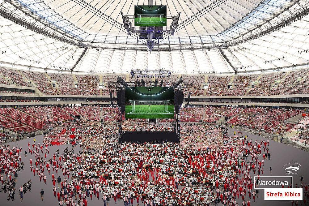 Narodowa Strefa Kibica na Stadionie Narodowym - wizualizacja.