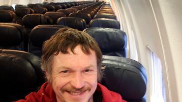 Skirmantas Strimaitis z Litwy leciał samolotem do Włoch jako jedyny pasażer
