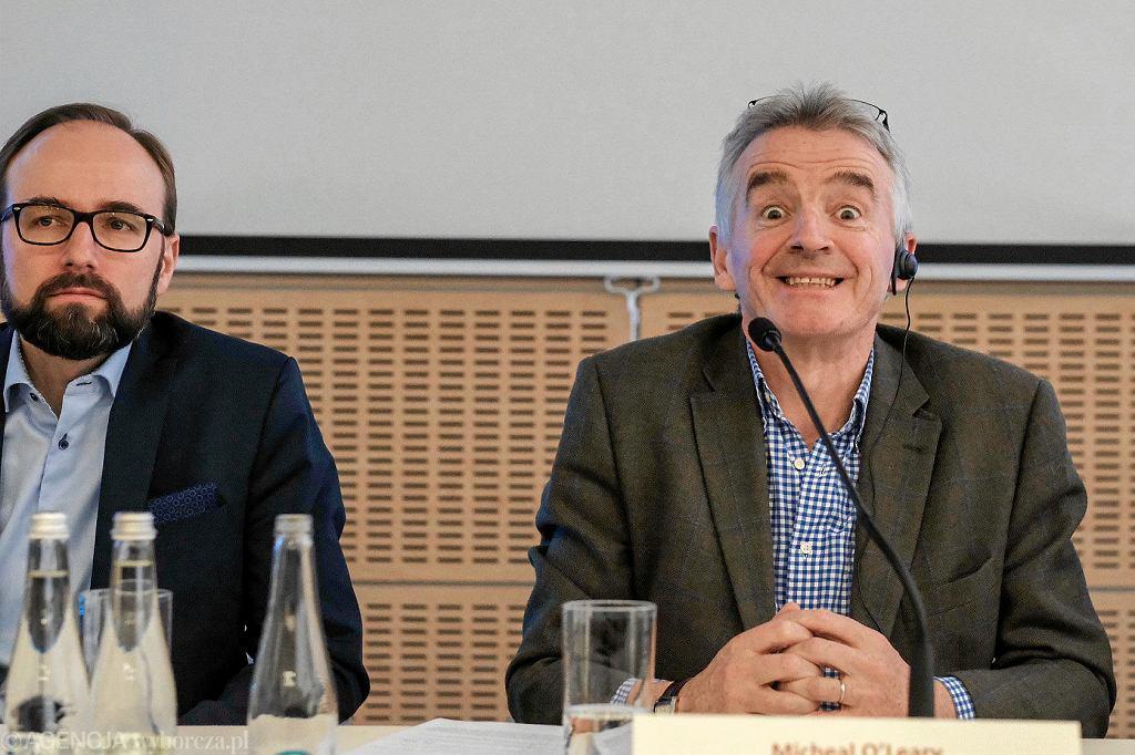 Michael O'Leary, szef Ryanaira, przyleciał na Ławicę ogłosić nowe trasy lotnicze z Poznania