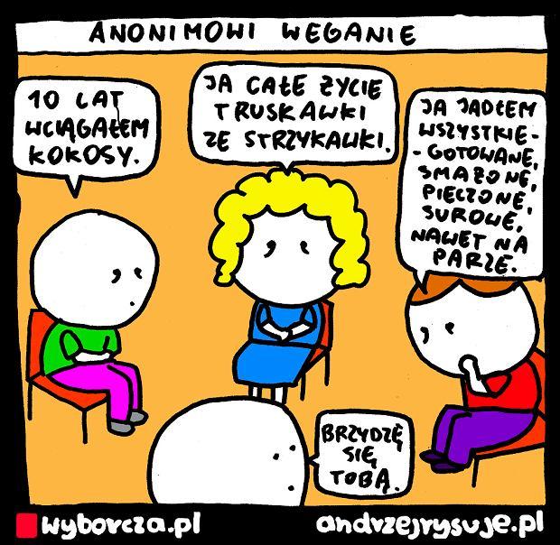 Andrzej Rysuje | ANONIMOWI WEGANIE - Andrzej Rysuje | 8 lutego 2020 -