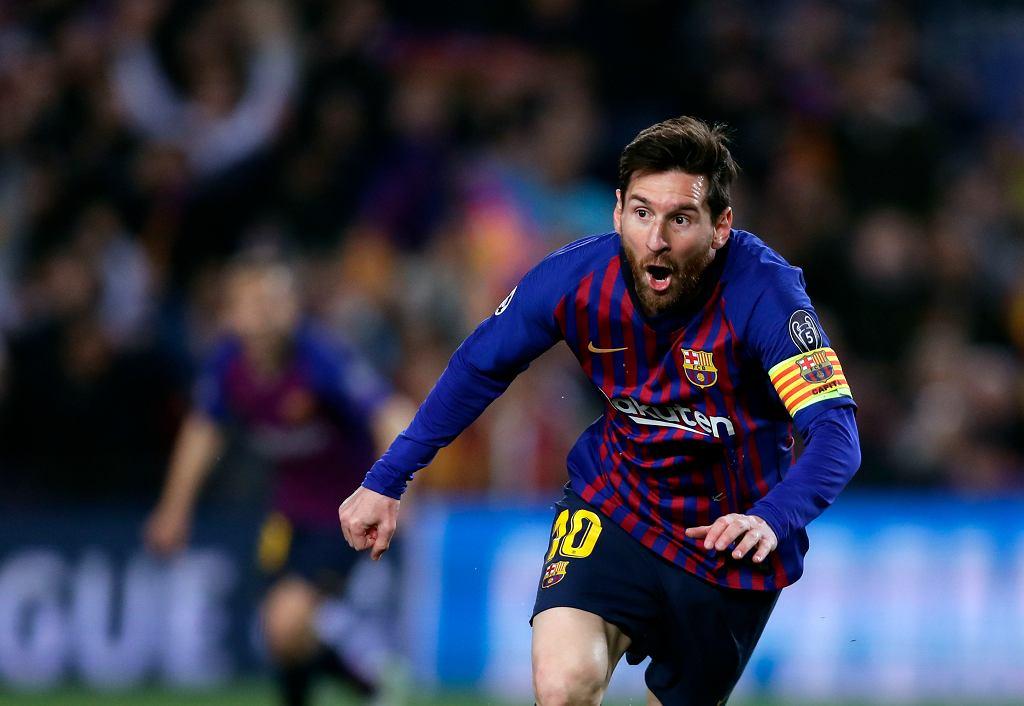 Leo Messi przed przerwą strzelił Manchesterowi United dwa gole