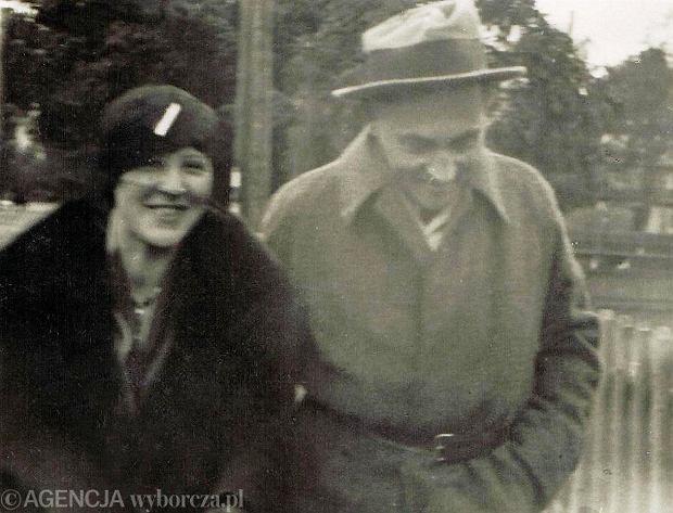 Eugenia Wyszomirska i Stanisław Ignacy Witkiewicz na spacerze w Zakopanem