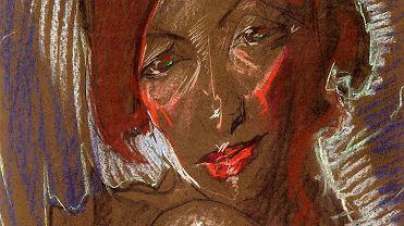 Portret z kolanem pod brodą autorstwa Witkacego z kolekcji Muzeum Historii Katowic