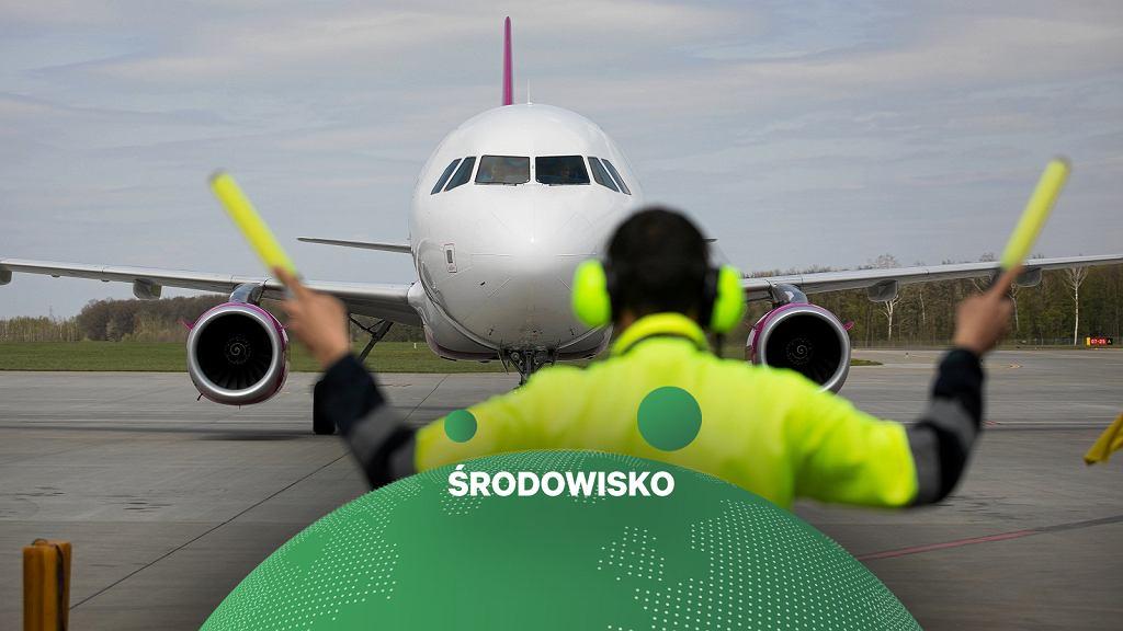 Samolot Wizzair w Lublinie (24.04.2019)