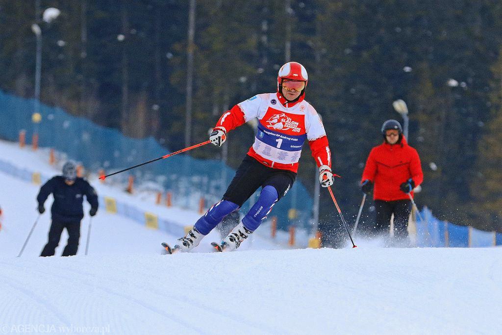 Andrzej Duda, prezydent i narciarz na Polanie Szymoszkowej, styczeń 2019 roku