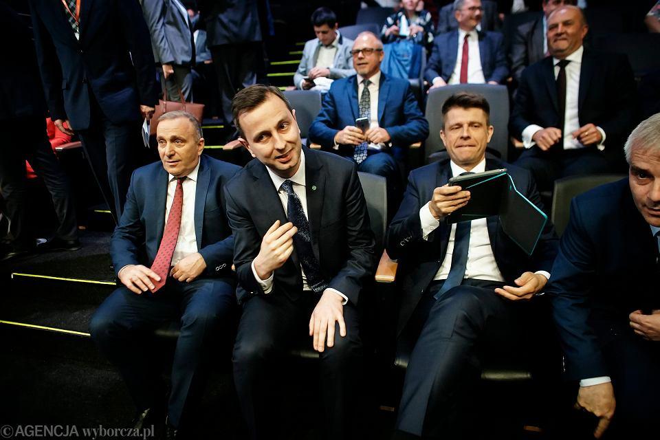 Grzegorz Schetyna, Władysław Kosiniak-Kamysz i Ryszard Petru podczas zjazdu samorządowców z całej Polski.