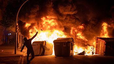 Protesty w obronie Pablo Hasela - Barcelona.
