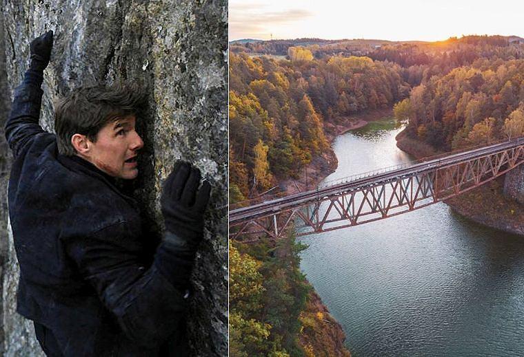 Tom Cruise i kolejowy most nad jeziorem Pilchowickim