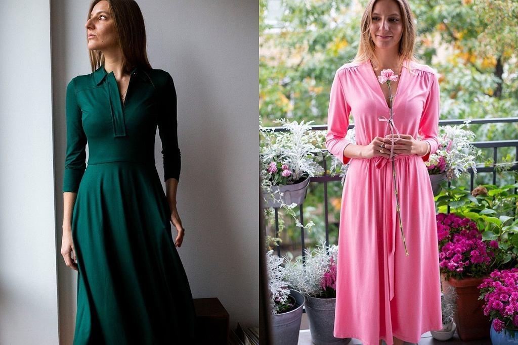 Gładkie sukienki midi