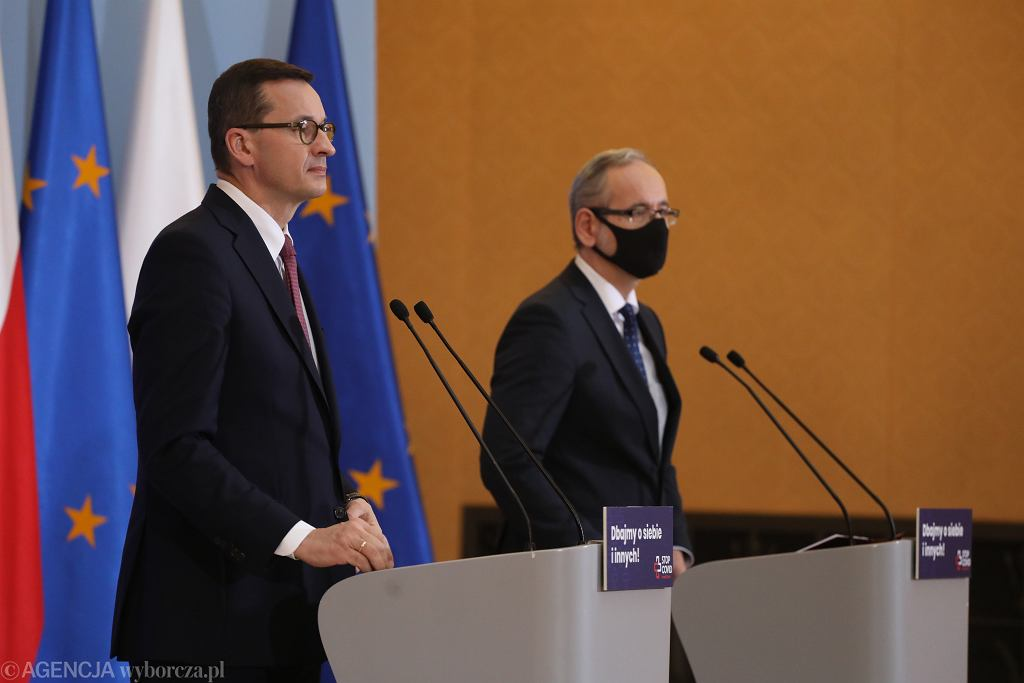 Adam Niedzielski i Mateusz Morawiecki