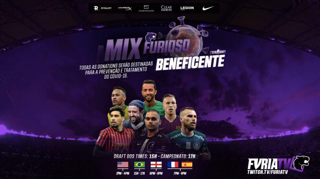 Mix Furioso, screenshot promujący turniej charytatywny, źródło: Twitter, 2020