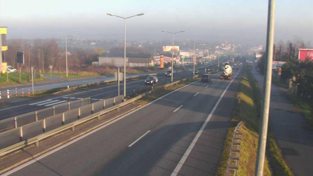 Smog w Krakowie. Widok na miasto z Libertowa